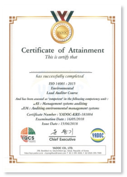 ISO 14001 : 2015